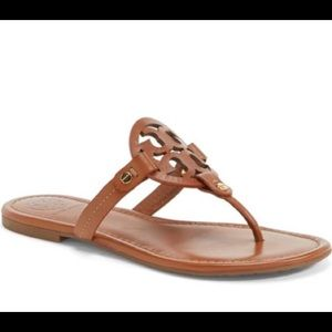 Tory Burch Miller Sandals Brown Flip Flops 7